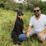 Naiya and Rajiv-new baby rhino naming